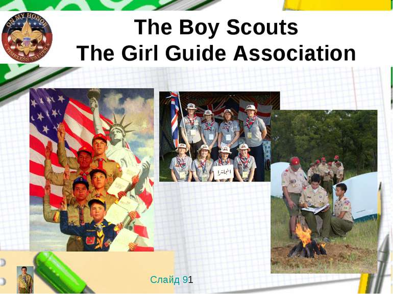 The Boy Scouts The Girl Guide Association Слайд 91