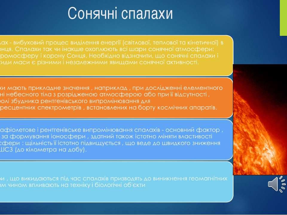 Сонячні спалахи зміст