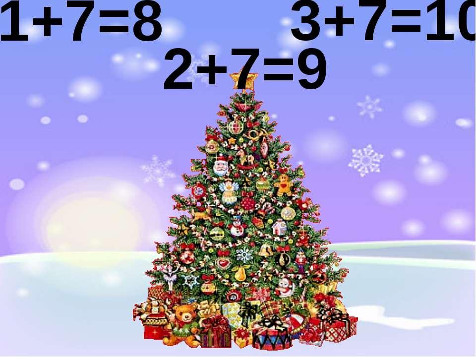 1+7=8 2+7=9 3+7=10