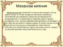 Механізм кипіння Механізм кипінняпов'язаний із утворенням всередині об'єму р...