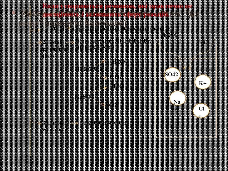 """Умови перебігу реакцій йонного обміну """"до кінця"""" (правило Бертолле) Коли утво..."""