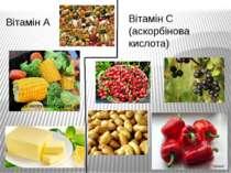 Вітамін А Вітамін С (аскорбінова кислота)