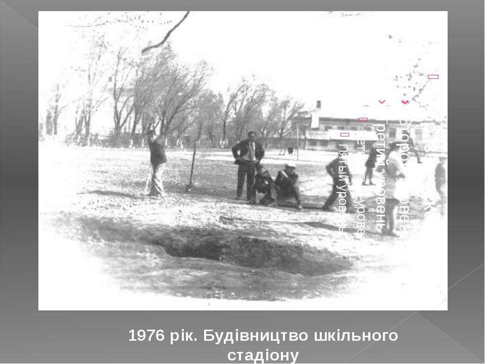 1976 рік. Будівництво шкільного стадіону