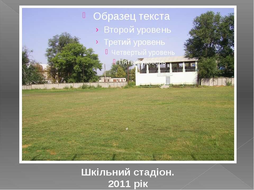 Шкільний стадіон. 2011 рік