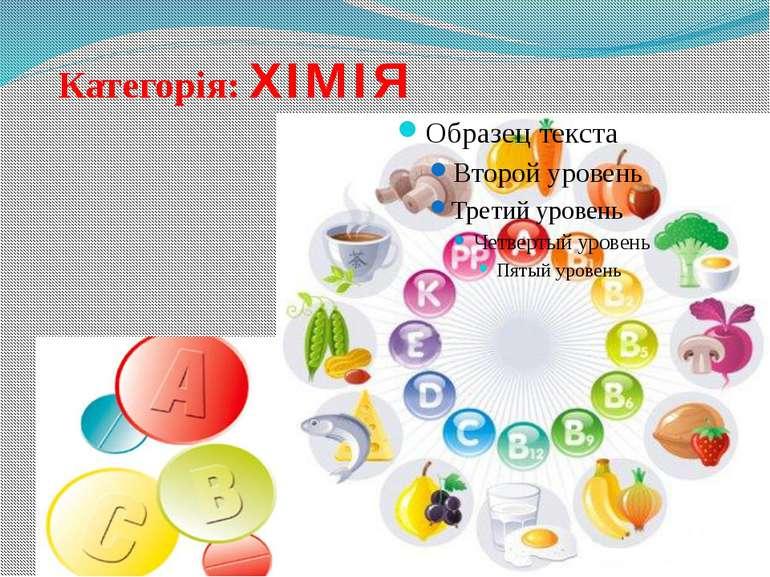 Категорія: ХІМІЯ Як називають вітамін С?