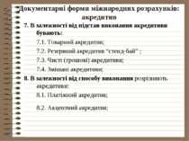 Документарні форми міжнародних розрахунків: акредитив 7. В залежності від під...