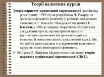 Теорії валютних курсів Теорія паритету купівельної спроможності (purchasing p...