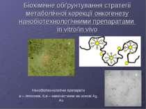 Біохімічне обґрунтування стратегії метаболічної корекції онкогенезу нанобіоте...