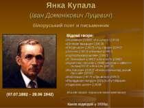 Янка Купала (Іван Доменікович Луцевич) білоруський поет и письменник Відомі т...