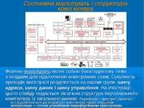 Системна магістраль і структура комп'ютера Фізично магістраль являє собою баг...
