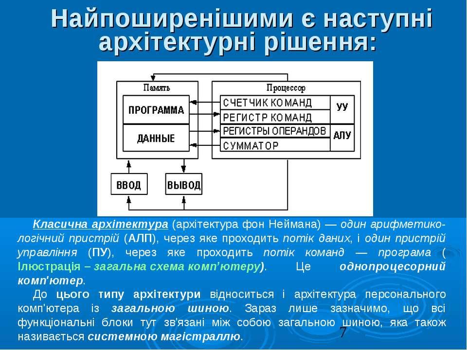 Найпоширенішими є наступні архітектурні рішення: Класична архітектура (архіте...