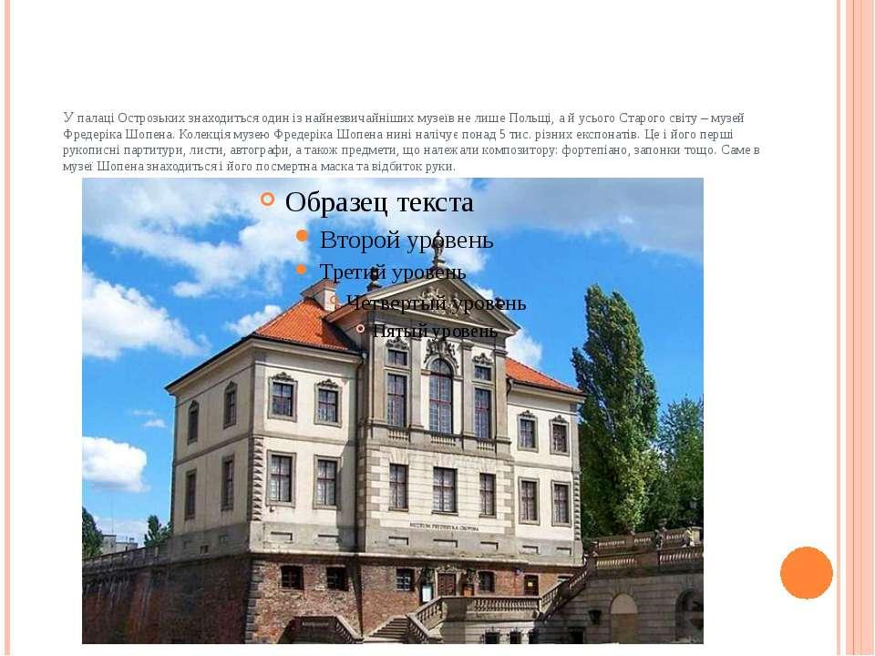 У палаці Острозьких знаходиться один із найнезвичайніших музеїв не лише Польщ...