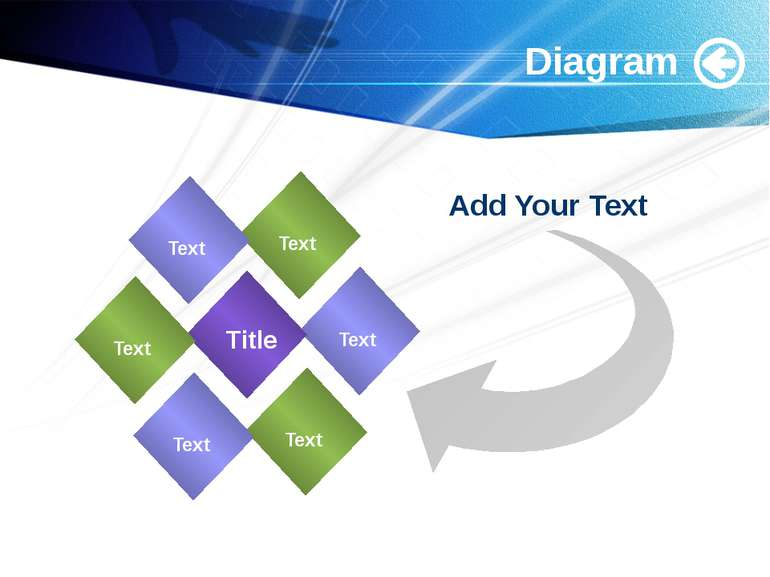 www.themegallery.com Diagram Add Your Text Text Text Text Title Text Text Text