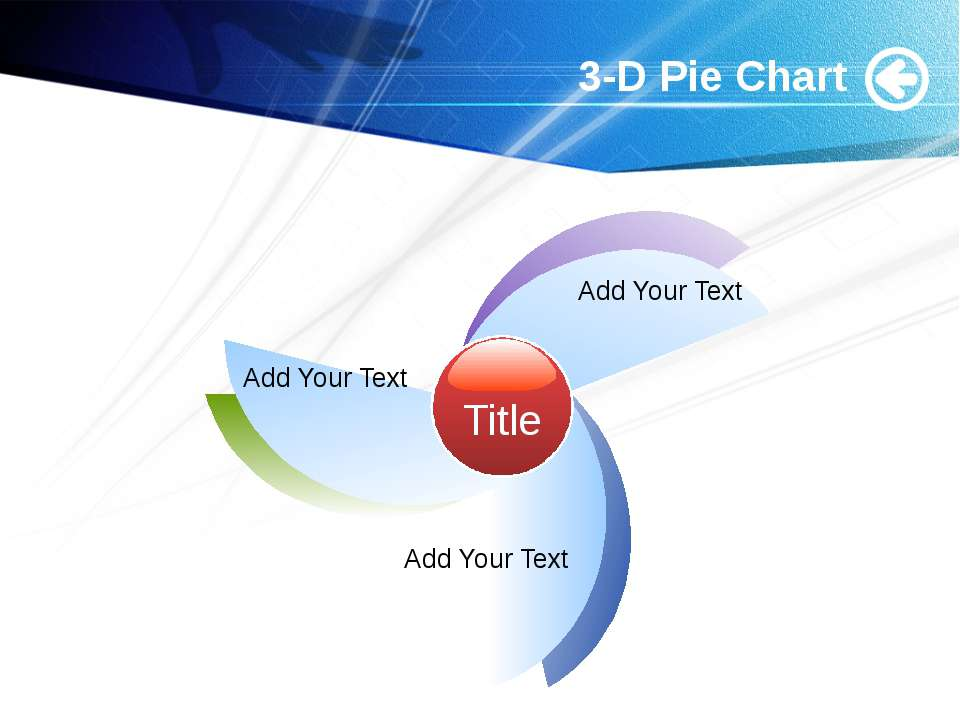 www.themegallery.com 3-D Pie Chart Title Add Your Text Add Your Text Add Your...