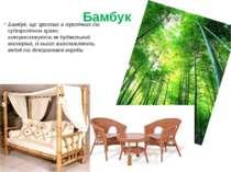 Бамбук, що зростає в тропічних та субтропічних краях, використовують як будів...