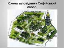 Схема заповідника Софійський собор.