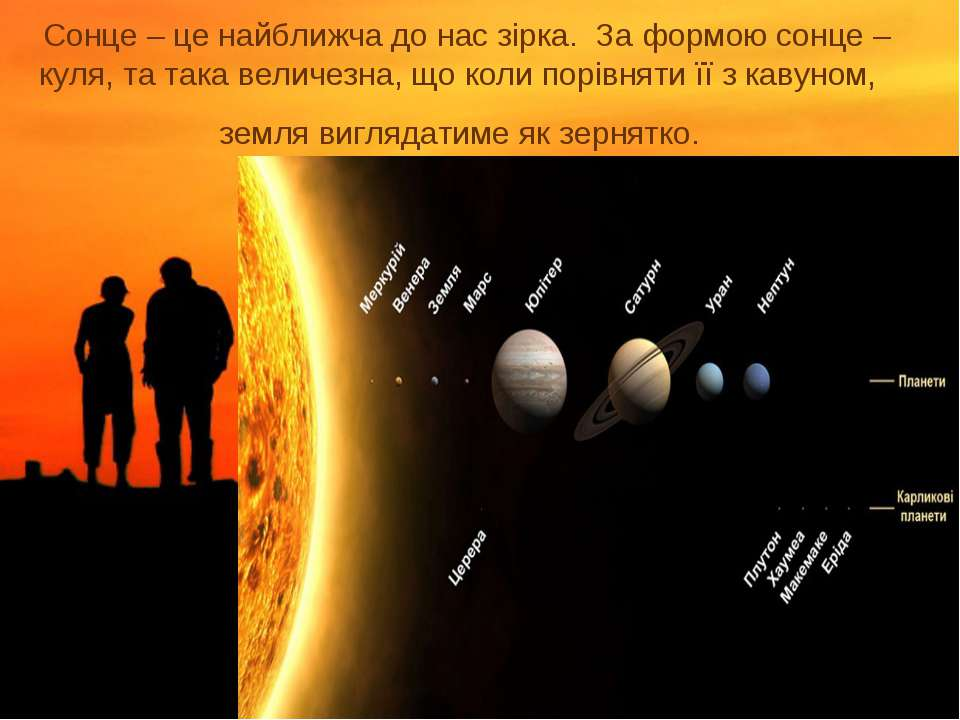 Сонце – це найближча до нас зірка. За формою сонце – куля, та така величезна,...