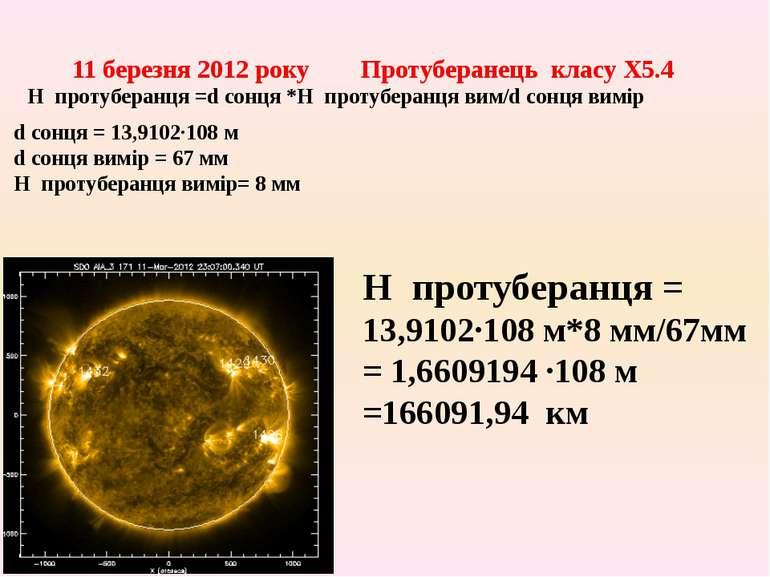 11 березня 2012 року Протуберанець класу X5.4