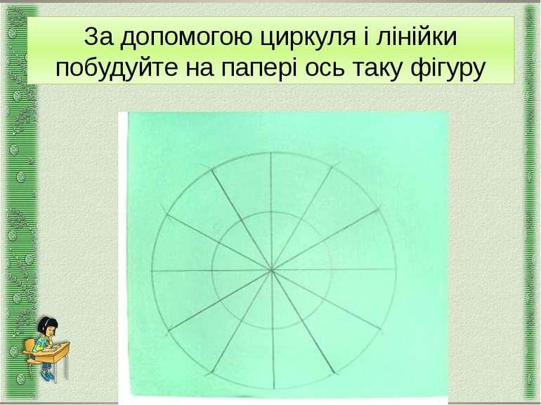 За допомогою циркуля і лінійки побудуйте на папері ось таку фігуру