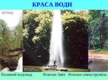 . КРАСА ВОДИ Великий водопад Фонтан семиструмінь Фонтан Змія