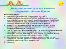 Діагностика шкільної зрілості за методикою Артура Керна – Ярослава Йєрасика М...