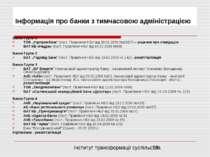 """Інформація про банки з тимчасовою адміністрацією Банки Групи 1 ТОВ """"Укрпромба..."""