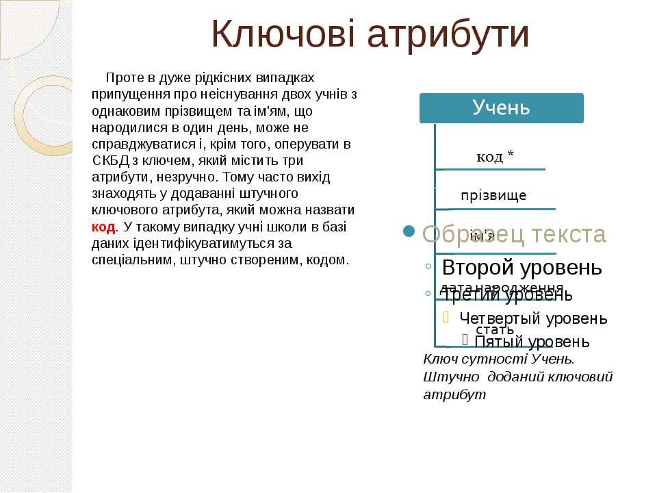 Ключові атрибути Проте в дуже рідкісних випадках припущення про неіснування д...