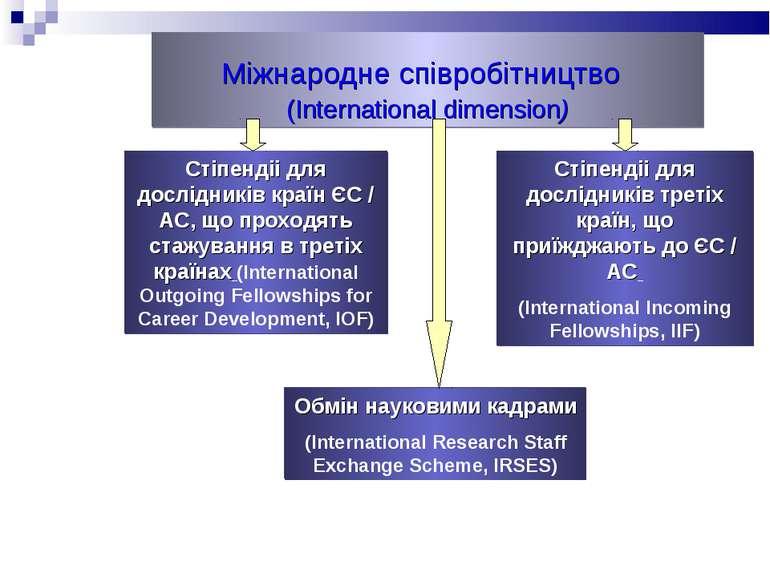 Міжнародне співробітництво (International dimension)