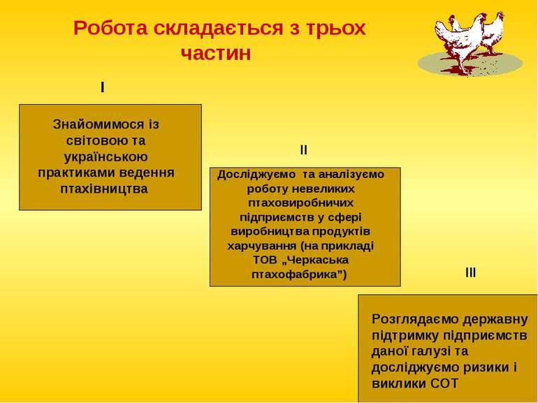 Робота складається з трьох частин Знайомимося із світовою та українською прак...
