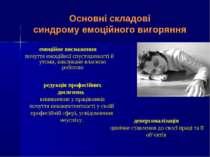 Основні складові синдрому емоційного вигоряння емоційне виснаження почуття ем...