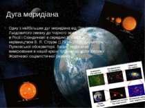 Дуга меридіана Одну з найбільших дуг меридіана від Північного Льодовитого оке...