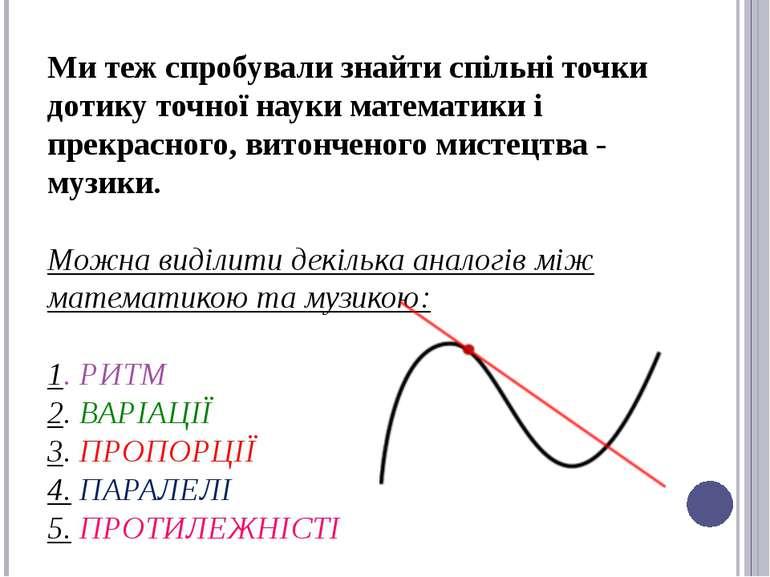 Ми теж спробували знайти спільні точки дотику точної науки математики і прекр...