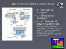 Обробка конічних поверхонь широким різцем: а – зовнішньої поверхні; б – внутр...