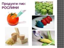 Продукти гмо: РОСЛИНИ