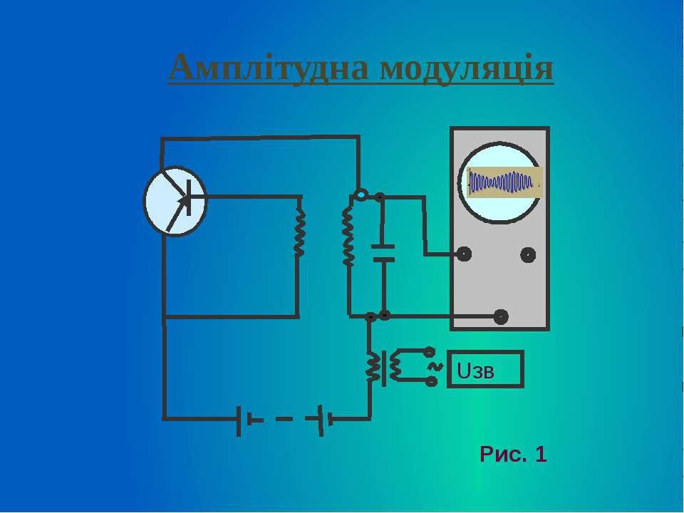 Амплітудна модуляція Uзв Рис. 1
