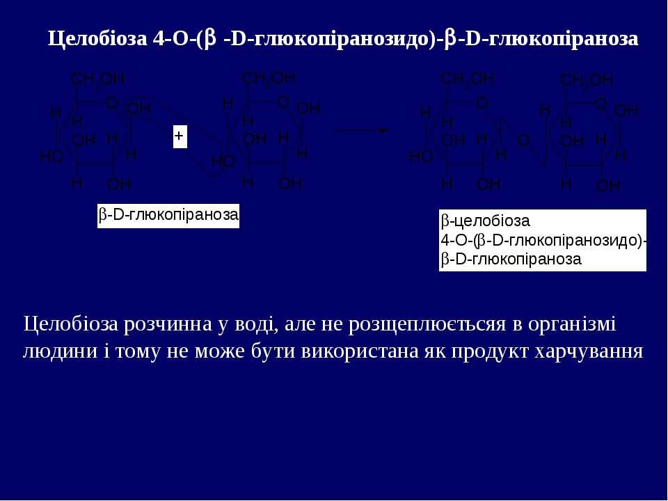 Целобіоза 4-О-( -D-глюкопіранозидо)- -D-глюкопіраноза Целобіоза розчинна у во...