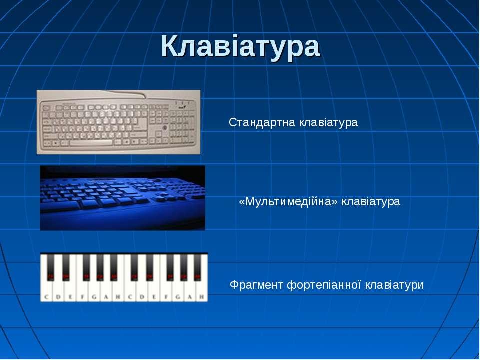 Клавіатура Стандартна клавіатура Фрагмент фортепіанної клавіатури «Мультимеді...