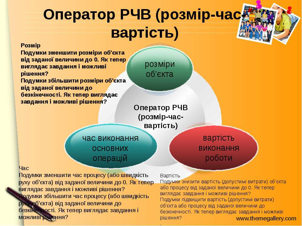Оператор РЧВ (розмір-час-вартість) Оператор РЧВ (розмір-час-вартість) Розмір ...