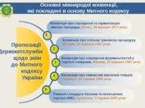 Основні міжнародні конвенції, які покладені в основу Митного кодексу Пропозиц...