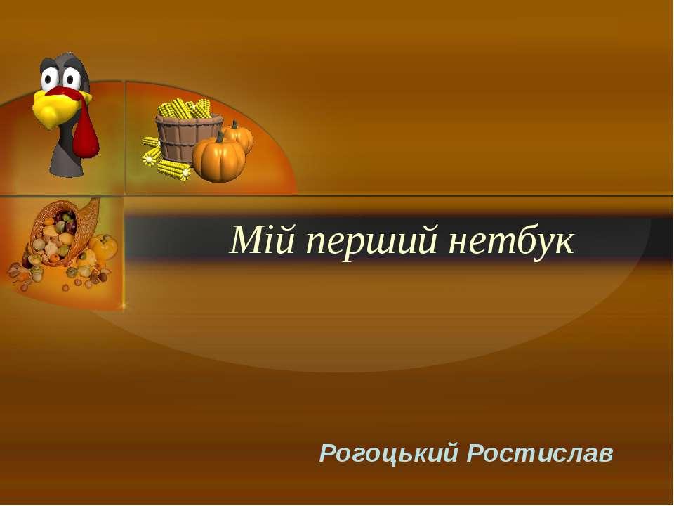 Мій перший нетбук Рогоцький Ростислав