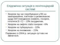 Епідемічна ситуація в пенітенціарній системі Хворіли під час перебування у ВК...