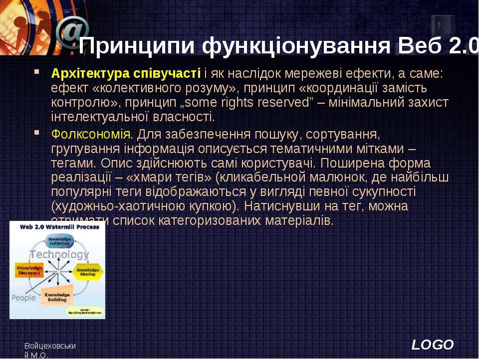 Войцеховський М.О. Принципи функціонування Веб 2.0 Архітектура співучасті і я...
