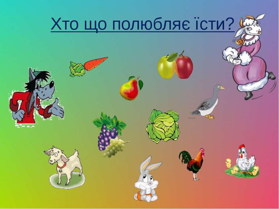 Хто що полюбляє їсти?