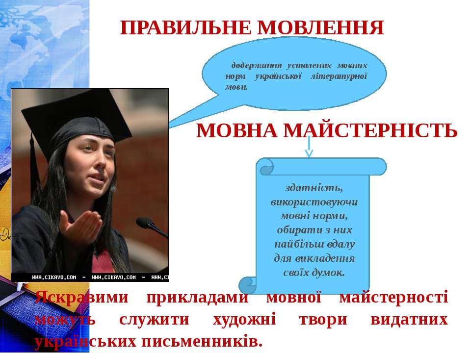 ПРАВИЛЬНЕ МОВЛЕННЯ додержання усталених мовних норм української літературної ...