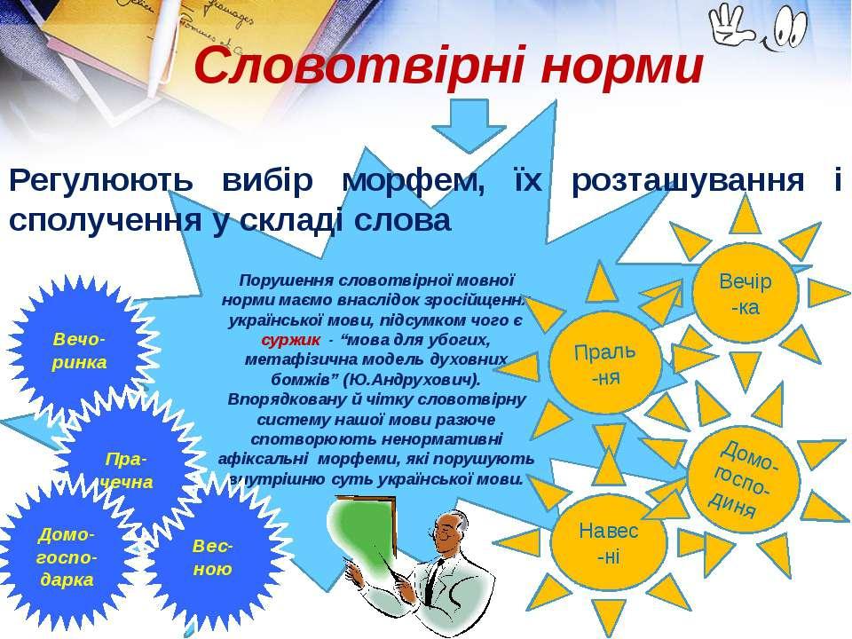 Порушення словотвірної мовної норми маємо внаслідок зросійщення української м...