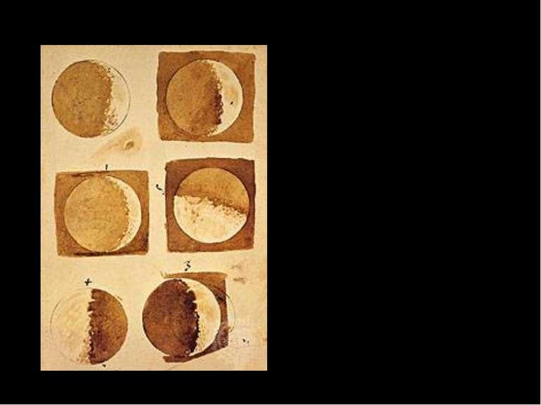Галілей першим описав реальну поверхню Місяця, яка «не имеет гладкой полирова...
