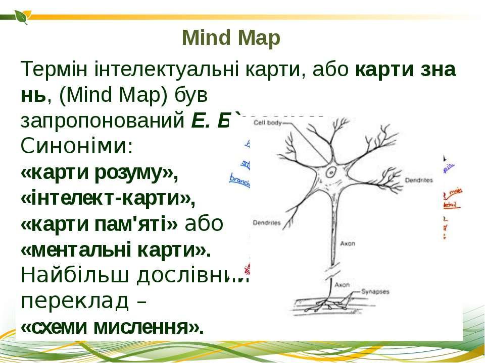 Термінінтелектуальнікарти,абокартизнань, (Mind Map) був запропонованийЕ...