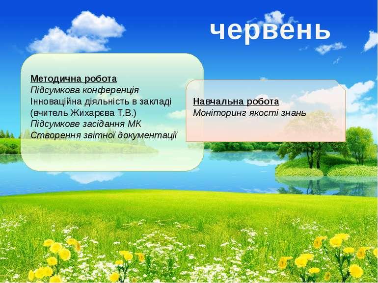 Методична робота Підсумкова конференція Інноваційна діяльність в закладі (вчи...