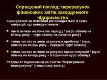 Спрощений погляд: перерахунок фінансових звітів закордонного підприємства Кор...