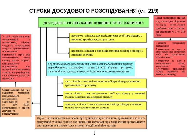 СТРОКИ ДОСУДОВОГО РОЗСЛІДУВАННЯ (ст. 219)